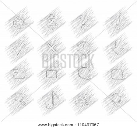 16 Shaded Vector Icons