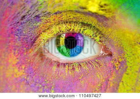 Multi colored eye