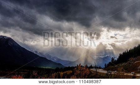 Sunn Breaking through Dark Clouds