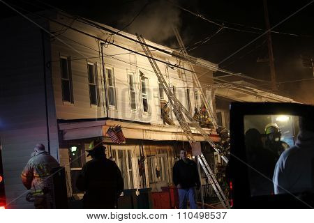 New Years Eve Structure fire Mahanoy City