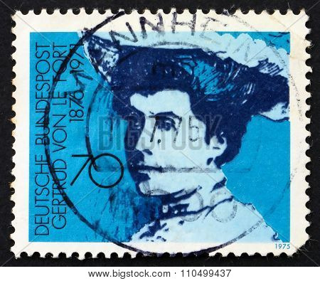 Postage Stamp Germany 1975 Gertrud Von Le Fort, Writer