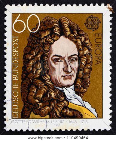 Postage Stamp Germany 1980 Gottfried Wilhelm Leibniz, Philosophe