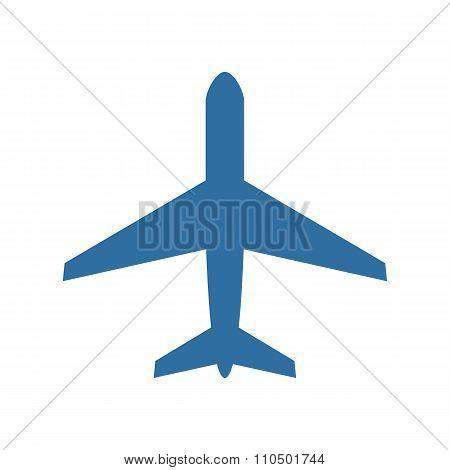 Airplane icon, modern minimal flat design style, plane vector illustration