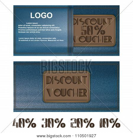 Discount Voucher For Jeans Background Pocket