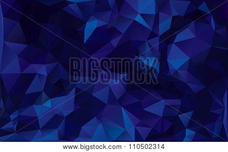 Abstract Poligonal Background In Dark Blue Tones