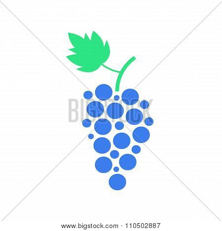 colored grapes icon isolated on white background