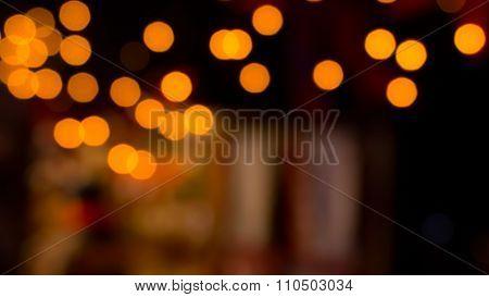 Christmas Night Lights Bokeh