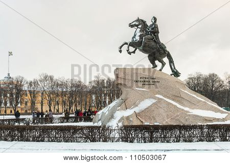Monument Of Russian Emperor Peter The Great, Known As The Bronze Horseman