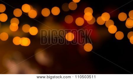 Glittering Gold Lights Abstract Background