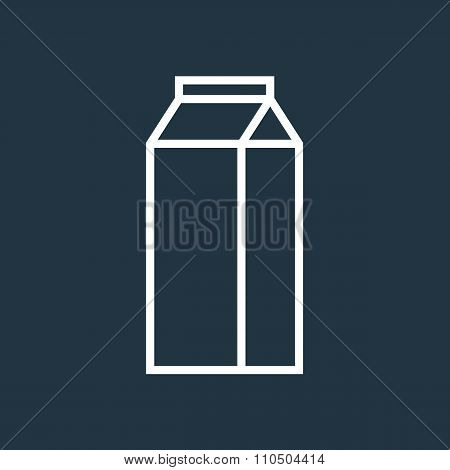 Milk carton outline icon, modern minimal flat design style, milk box vector illustration