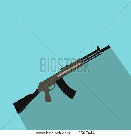 Submachine gun flat icon
