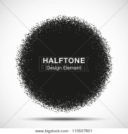 Abstract Halftone Dots Circle.