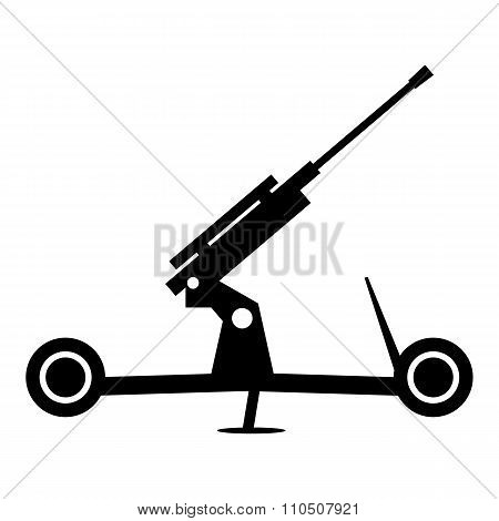 Howitzer artillery simple icon