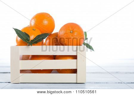 Box Of Fresh Oranges