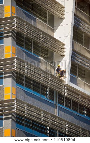Construction Workers On New Building
