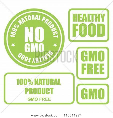 GMO free and healthy food stamps and labels