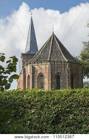 Church Of Hoorn Terschelling Netherlands.