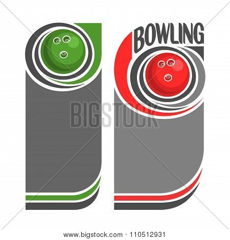 Background images for text on the subject of bowling
