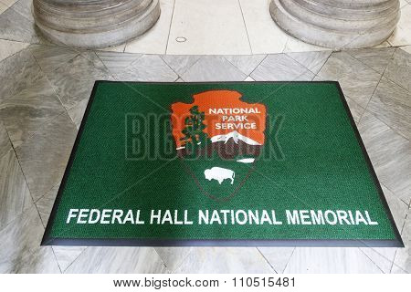National Park Service Door Mat In Federal Hall