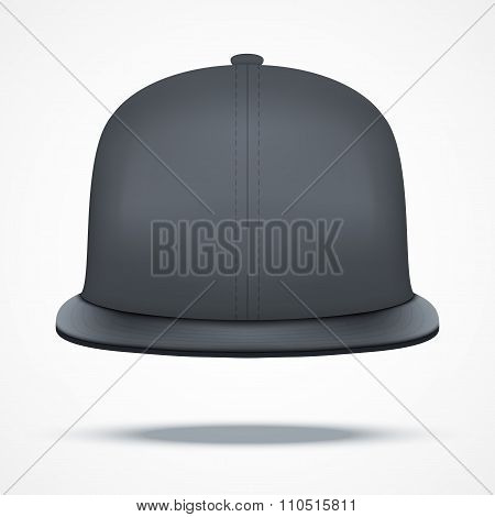 Layout of Male black rap cap.