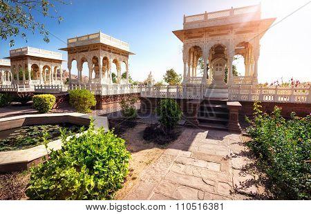 Jaswant Thada cenotaph memorial in India