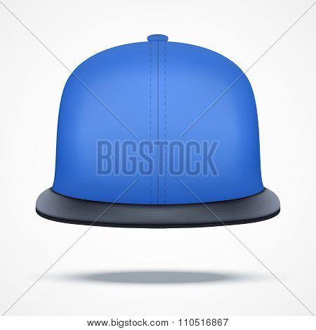 Layout of blue rap cap.