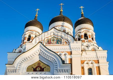 Facade Of The Alexander Nevsky Cathedral In Tallinn
