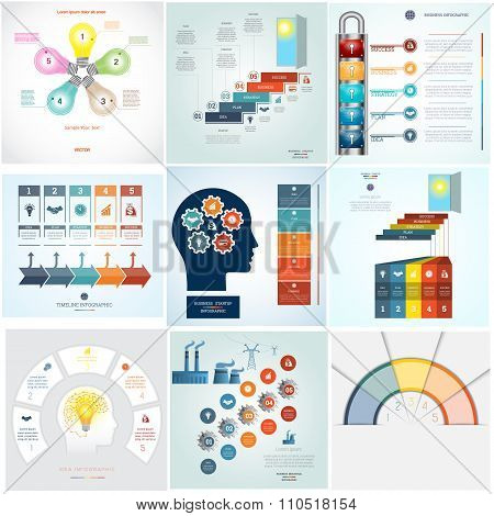 Timeline Infographic 9 Templates Five Position