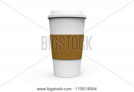 Paper Coffee Cup With White Cap