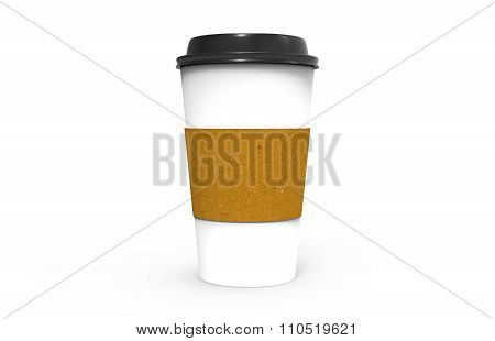 Paper Coffee Cup With Black Cap