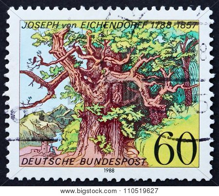 Postage Stamp Germany 1988 Woodcut By Ludwig Richter