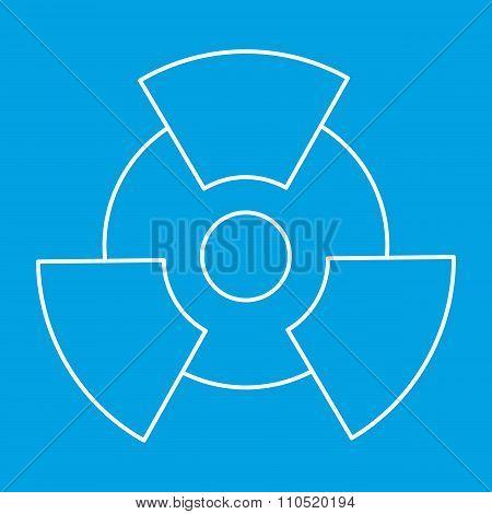 New radiation thin line icon