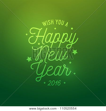 Happy New Year light green vector background. Card or invitation.