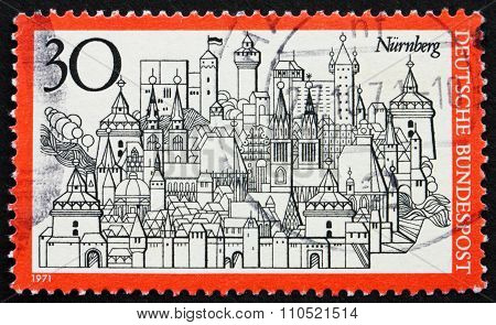 Postage Stamp Germany 1971 City Of Nuremberg