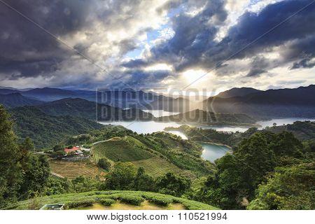 Beautiful Mountain Sunset Scenery