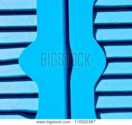 Venetian Blind     In    Santorini Europe Greece  Old Architecture And Blue