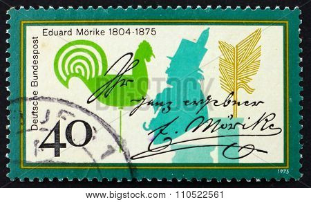 Postage Stamp Germany 1975 Eduard Morike