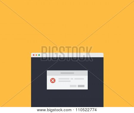 Web Page Message Exclamation Window