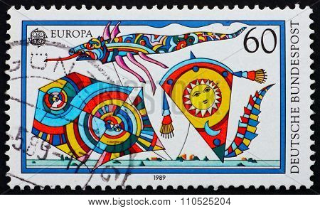 Postage Stamp Germany 1995 Kites