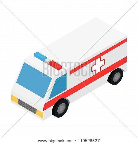 Ambulance isometric 3d icon