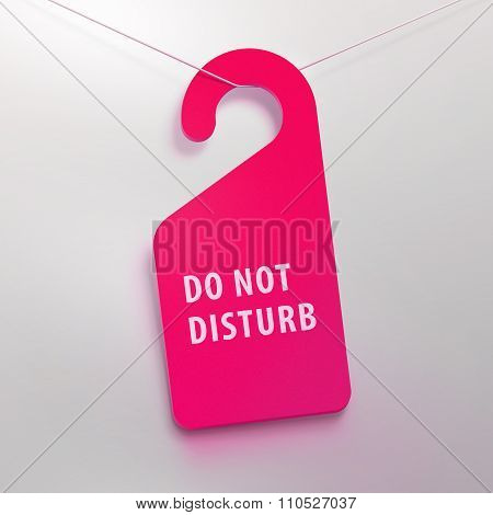 Do not disturb tag. Lilac color.
