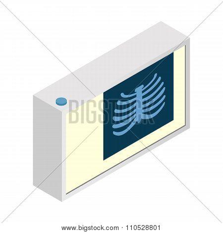 Roentgen isometric 3d icon