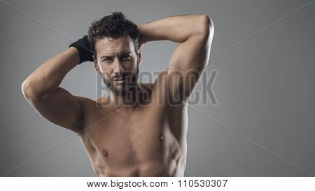 Hansome Man Showing His Body