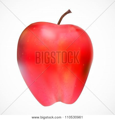 Sweet Tasty Apple Vector Illustration.