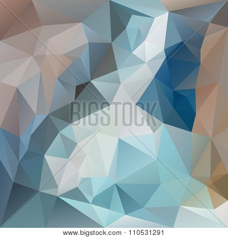Vector Polygonal Background With Irregular Tessellations Pattern - Triangular Design In Blue Colors