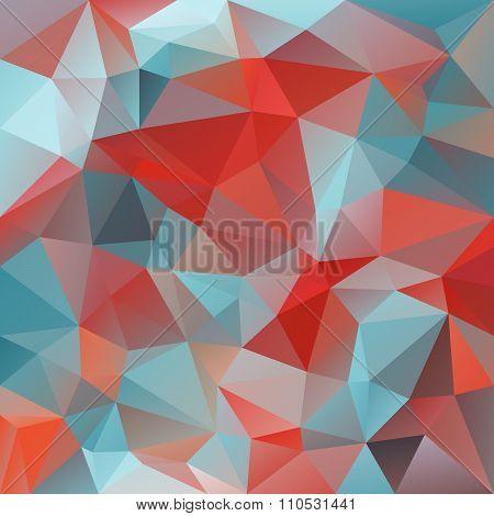 Vector Polygon Background With Irregular Tessellations Pattern - Triangular Design