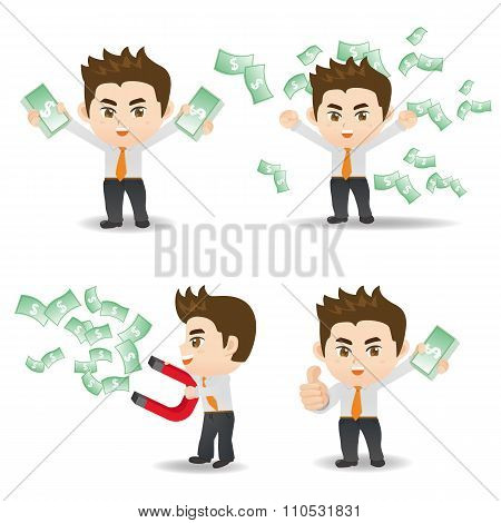 Businessman Show Finance Money