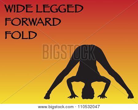Yoga Woman Wide Legged Forward Fold Pose