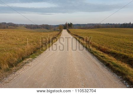 Countryside dirt road