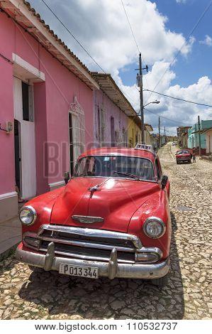 Cuban red taxi